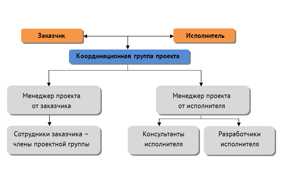 Структура проекта внедрения комплексной системы